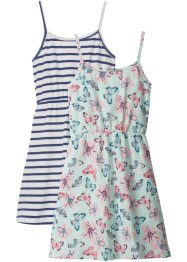 Lot de 2 robes estivales en jersey fille, bpc bonprix collection