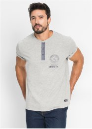 T-shirt avec patte de boutonnage Regular Fit, John Baner JEANSWEAR