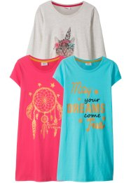 Lot de 3 chemises de nuit, bpc bonprix collection