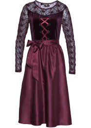 Robe Dirndl en velours, bpc selection premium