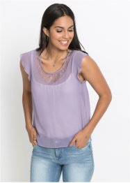 Top en chiffon, transparent, BODYFLIRT