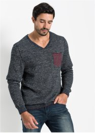 Pull col en V Regular Fit, John Baner JEANSWEAR