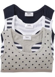 Lot de 3 brassières en coton bio, bpc bonprix collection