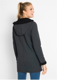Gilet sweat avec synthétique imitation fourrure peluche, bpc bonprix collection