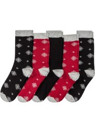 Lot de 5 paires de chaussettes de Noël, bpc bonprix collection