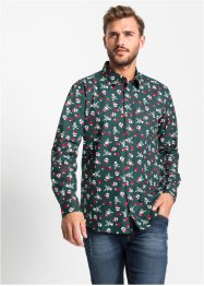 Chemise manches longues à imprimé all-over Regular Fit, RAINBOW