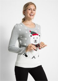 Pull de Noël col rond, bpc bonprix collection