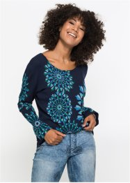 Pull à motif, manches longues, John Baner JEANSWEAR