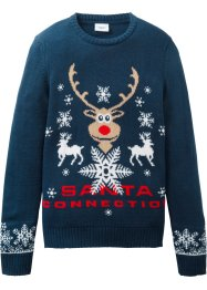 Pull en maille à motif de Noël, bpc bonprix collection