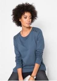 Sweat-shirt long coton à rivets, John Baner JEANSWEAR