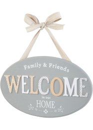 Plaque déco Welcome, bpc living