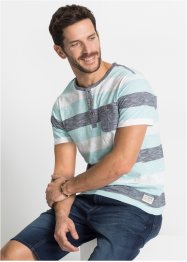 T-shirt col Henley Regular Fit, John Baner JEANSWEAR
