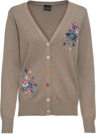 Gilet en maille avec applications florales, RAINBOW