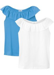 Lot de 2 T-shirts Carmen, bpc bonprix collection