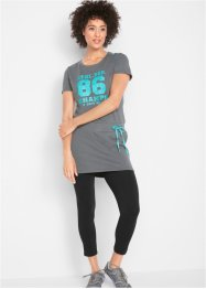 T-shirt long à manches courtes avec legging, bpc bonprix collection