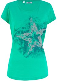 T-shirt coton fil flammé, manches courtes, bpc bonprix collection