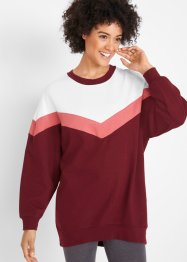 Sweat-shirt long oversize à manches longues, bpc bonprix collection