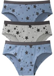 Lot de 3 culottes en coton bio, bpc bonprix collection