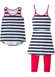 Robe + top + legging 3/4 (Ens. 3 pces.), bpc bonprix collection