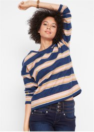Sweat-shirt à rayures douillet, manches longues, John Baner JEANSWEAR