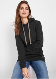 Sweat-shirt long à capuche, manches longues, John Baner JEANSWEAR