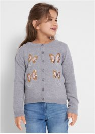 Gilet fille en maille coton avec paillettes, bpc bonprix collection