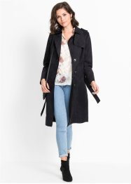 Manteau en synthétique imitation cuir velours, BODYFLIRT