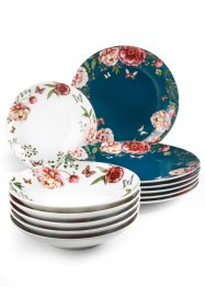 Service de table Roses 12 pces., bpc living bonprix collection