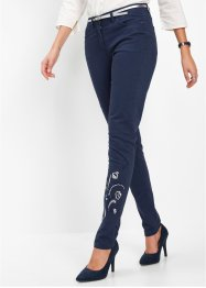 Pantalon extensible avec broderie, bpc selection