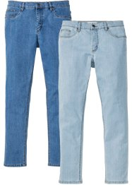 Lot de 2 jeans extensibles Slim Fit Straight, John Baner JEANSWEAR