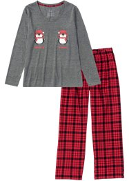 Pyjama avec pantalon en flanelle, bpc bonprix collection