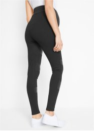 Legging de grossesse à empiècements PU, jersey épais, bpc bonprix collection