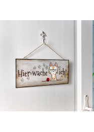 Plaque de porte avec chat, bpc living bonprix collection