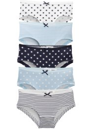 Lot de 5 culottes fille, bpc bonprix collection