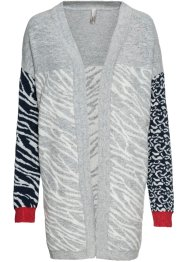 Gilet long en maille à motif animal, BODYFLIRT boutique