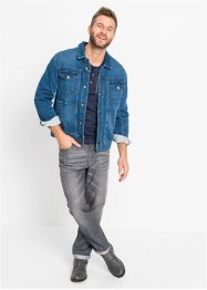 T-shirt col Henley, manches longues, John Baner JEANSWEAR