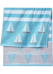 Serviette de toilette motif bateau, bpc living bonprix collection