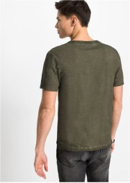 T-shirt col Henley Slim Fit, manches courtes, RAINBOW