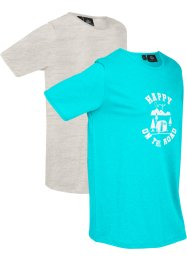 Lot de 2 T-shirts longs en coton, manches courtes, bpc bonprix collection