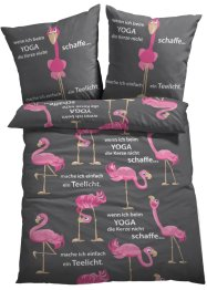Parure de lit avec flamants roses, bpc living bonprix collection