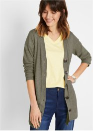 Gilet en maille durable, lin et polyester recyclé, bpc bonprix collection