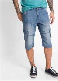 Bermuda en jean durable Regular Fit avec TENCEL™ et lin, John Baner JEANSWEAR
