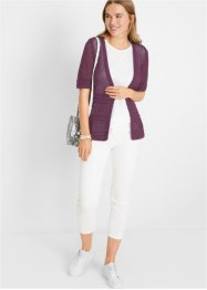 Gilet en maille ajourée, bpc bonprix collection
