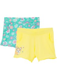 Lot de 2 shorts fille en jersey, bpc bonprix collection
