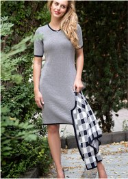 Robe en maille jacquard, manches courtes, bpc selection