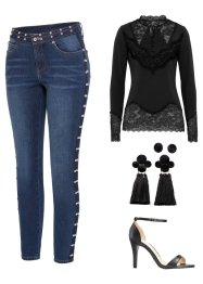 Jean Skinny Fit avec rivets, BODYFLIRT boutique