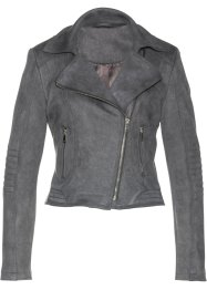 Veste biker en synthétique imitation cuir velours, bpc selection premium