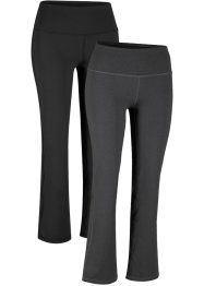 Lot de 2 pantalons de sport sculptants, niveau 1, bpc bonprix collection