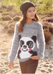 Pull en maille duveteuse, bpc bonprix collection