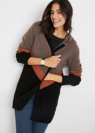 Manteau en maille style color block, bpc bonprix collection